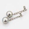 Ett par örhängen 18k vitguld med odlade tahiti-pärlor och runda briljantslipade diamanter.