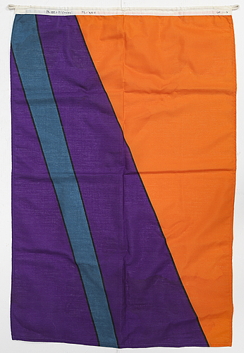 Olle baertling, silk screen on fabric, flag, signed baertling and numbered 33/250.