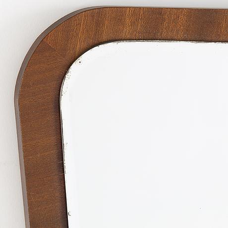 A mahogany mirror from glas&trä, hovmantorp, 1950's.