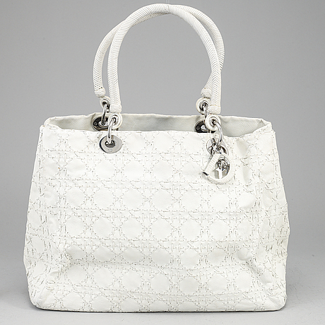Christian dior, 'cannage leather tote bag'.