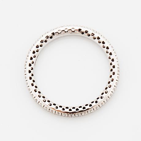 Eternity brilliant-cut diamond ring.