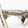Three pairs of silver cufflinks. finland 1955-1967.