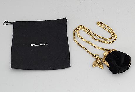 Dolce & gabbana, a black velvet evening bag.