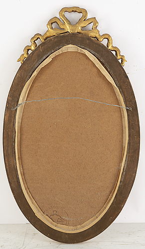 A gustavian style mirror, mid 20th century.