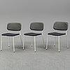 Three 'soft edge chairs' by aleksej iskos  & boris berlin for hay. 21st century.