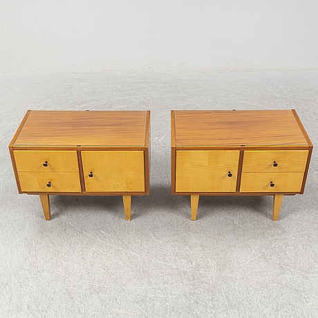 A mid 20th century bedside tables.