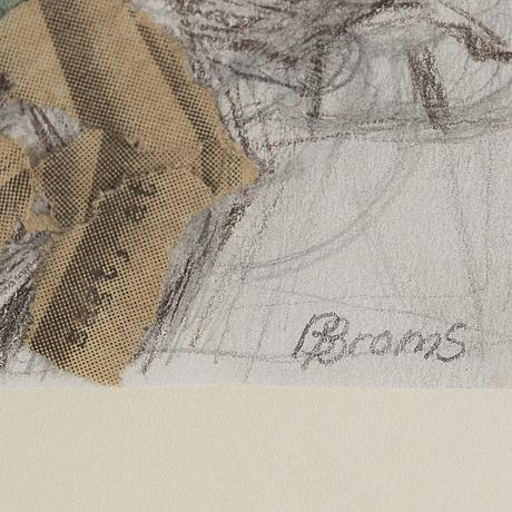 Birgit broms, collage on paper, signed.