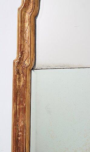 A transitional baroque/rococo mirror.