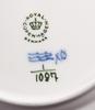 "Kaffeservis, 12 delar. porslin. kunglig dansk ""musselmalet""."