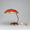 A mid 20th century helo leuchten table lamp, germany.