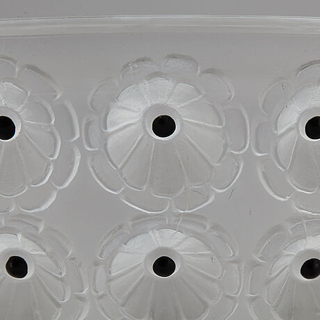 A 'nemours' glass bowl, lalique, france.