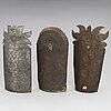 Three late 19th century metal wall sconces.