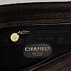 Chanel, a dark brown leather bag, 1996-1997.