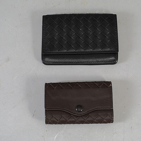 Bottega veneta, a wallet and a key case.