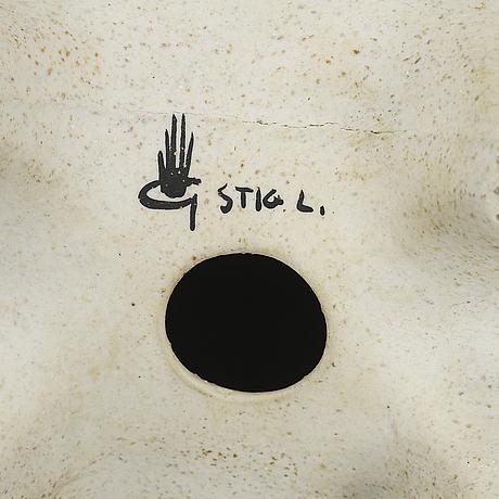 "Stig lindberg, skulptur, stengods, ""springare"", gustavsberg studio."