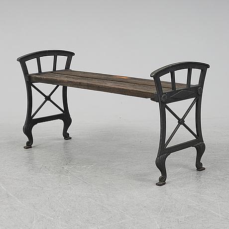 "Folke bensow, ""parkbänk n:r 2"", näfveqvarns bruk, 1900-tal."