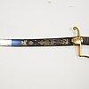 Sabel, brittisk, för officer, omkring 1800.