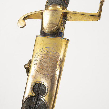 A british officer's sword from around year 1800.