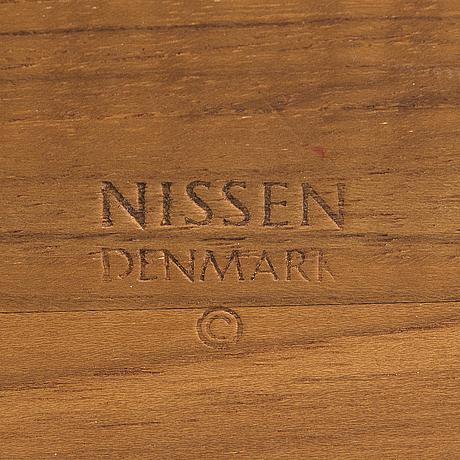 PicknicklÅda, teak, nissen denmark, 1960-tal.