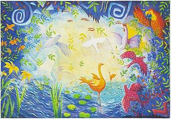 STEFAN W IGELSTRÖM, lithograph in colours, 3, signed HC.