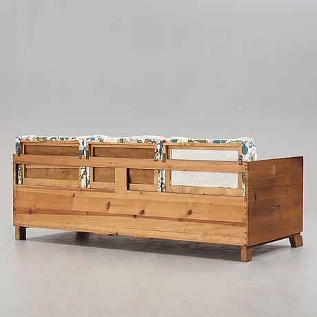 """Axel einar hjorth, a stained pine sofa """"sport"""", nordiska kompaniet, sweden 1930's."""