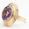 A 14k gold ring with an amethyst. westerback, helsinki 1967.