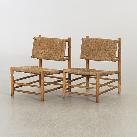 A pair of easy chairs second half of 20th century.