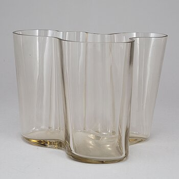"ALVAR AALTO, a ""model 3030"" glass vase, Iittala, Finland, probably 1950's."
