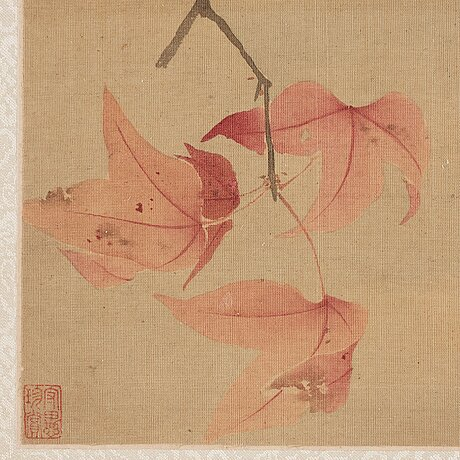 An album with 12 paintings by qing dynasty artists, circa 1900. attributed to zhang jian, shou ping, yang jin, after.