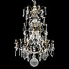 A mid 20th century rococo style chandelier.