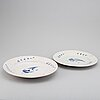 Two swedish faince dishes, 18th century.