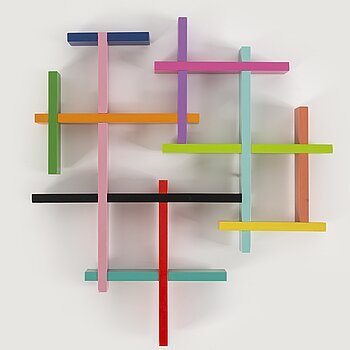 JACOB DAHLGREN, object for wall in painted wood, signed.
