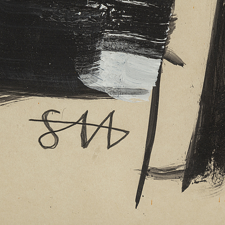 Staffan hallstrÖm, gouache & watercolour, signed.