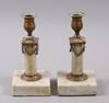 Ljusstakar, ett par. sengustavianska 1800-talets början.