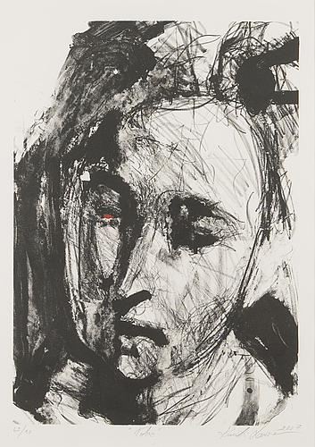 Kuutti lavonen, lithograph, signed and dated 2007, numbered 62/90.