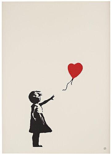 "Banksy, ""girl with balloon""."
