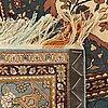 A semiantique teheran part silk on silk carpet ca 217 x 140 cm.
