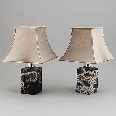 Two table lamps, second half of 20th century.
