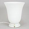 A glass table lamp from cvv viannde, france.
