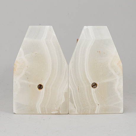 A pair of stone book ends.