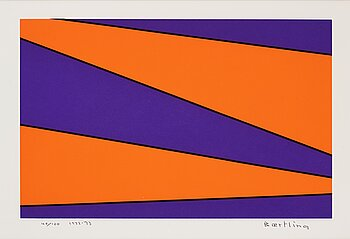 OLLE BAERTLING, serigraph in color, signed and numbered 40/100, dated 1972-73.
