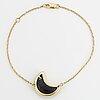 Onyx diamond moon bracelet.