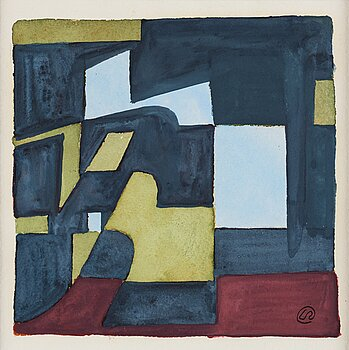 LENNART RODHE, gouache, signed with monogram, executed in 1955.