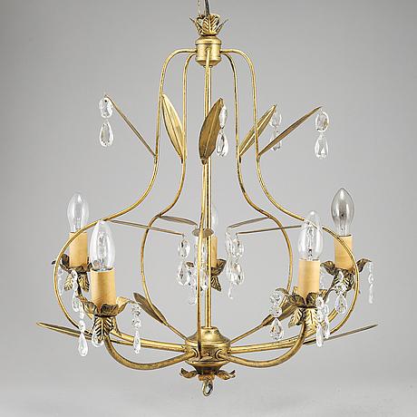 An italian ceiling light, 20th century.
