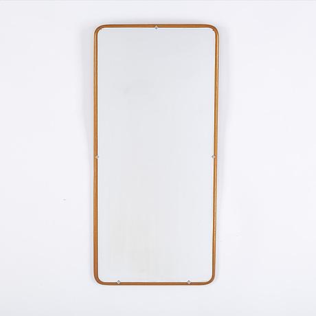 A mid 20th century teak mirror.