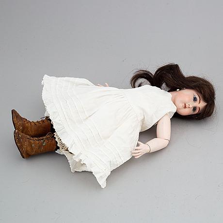 A jullien jeune bisque head doll.