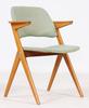 """Karmstol, ur nordiska kompaniets """"triva""""-serie, tillskr bengt ruda, omkring 1950-talets mitt, brickmärkt."""