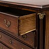 An early 19th century mahogany chest of drawers.