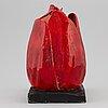 Kjell janson, skulptur, stengods, signerad kjell janson mora.