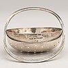 Bertel gardberg, a sterling silver and teak tea strainer, marked bg, 1950s.